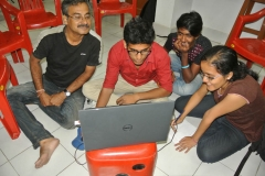 Our faculty Mr Biswajit Dasgupta during photoshop class