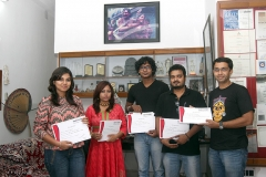 Advanced Photojournalism students received certificates 2014