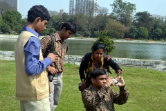 Workshop for differently abled people at Victotia memorial 2013