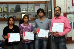 Students received Certificates 2015