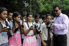 Workshop with 50 Street children on World Photography Day 2016