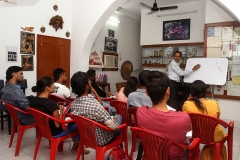 Our faculty Mr. Joy Mukhopadhyay' during class