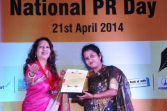 Images Redefined Photography Institute received -Par Excellence Corporate - award from Public Relations Society of India 2014