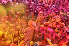 Workshop in festival of Colour Holi at Mathura on March , 2020